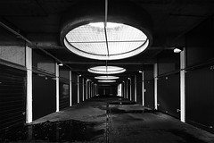 The Light At the End (mg photography2) Tags: barbican openhouse london ohl18 urban grime dirty gritty urbex light dark darkness car park garage door city uk england photograpy canon explore brutalist architecture architectural building interior exterior monochrome