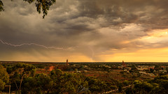 Steamy Sunday (geoffcollins82) Tags: kalgoorlie westernaustralia australia au lightning mount charlotte goldfields outback headframes storm thunderstorm