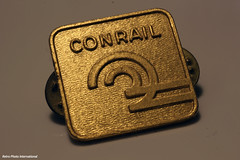 Conrail Pin (Retro Photo International) Tags: conrail pin railroad macro hobby macromondays carl zeiss jena tessar 50mm 35 f22