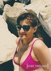 Wife - 1182 (oterrason) Tags: swimsuit wife woman bikini beach portrait cute sexy adorable attractive amazing alluring smile muse pose model scan beautiful beauty gorgeous vixen summer summertime sunbathing candid hot babe hottie carlzeiss planart50mmf14cy contaxrtsii sunglasses delmar sandiego california kodak kodakektar100 film negative