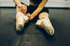 Getting ready for work (Christine Quarte) Tags: dance dancer ballet pointe class hardwork strength girls ballerina graceful