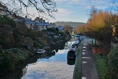 Winter on the canal (Nige H (Thanks for 15m views)) Tags: landscape nature canal kennetavoncanal bath bathwick barge boats england winter reflection