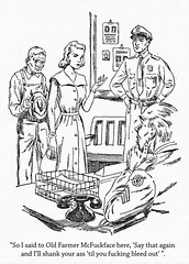 "Thug Nancy Drew in ""The Shank"" (Curtis Gaston) Tags: childhood literature classic captions illustrations keene carolyn boys hardy drew nancy thug funny am reading library publishing art conceptual"