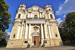 Vilnius: Church of St. Peter and St. Paul (zug55) Tags: vilnius lithuania litauen vilna wilna wilno baltic baltics lietuva lietuvosrespublika unesco unescoworldheritagesite worldheritagesite worldheritage welterbe weltkulturerbe churchofstpeterandstpaul stpeterandstpaul church kirche antakalnis baroque barock stucco giovannipietroperti giovannimariagalli janzaor giovannibattistafrediani zeiss batis 18mm