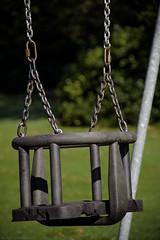Ferguslie Gardens Autumn (92) (dddoc1965) Tags: dddocdavidcameronpaisleyphotographeroctober25th2018fergusliegardensparkpondswansripplesreflectionsbaloonwaterdewlittertrachplastictreeswoodsidecemeteryautumnhuescolours swingpark playground swings childrensplayarea