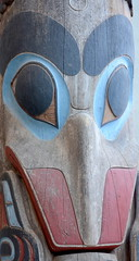 WEST COAST NATIVE ART, CARVED WOOD TOTEMS, UBC, VANCOUVER. BC. (vermillion$baby) Tags: nativeart art carvng color firstnations totem westcoast wood artsculpture native pacificnorthwest artofnorthamerica artofnativenorthamerica museum carving sculpture woodcarving museums artofthenative nativeamerican indian gallery vivid aborigine