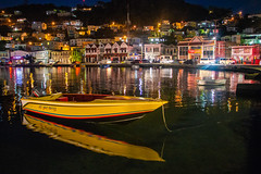 Yellow Boat in the Night-1982 (islandfella) Tags: grenada caribbean twilight evening island reflection waterfront sea seasape lights