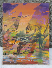 Layer of sunset (SERGEY AKRAMOV) Tags: сергейакрамов sergeyakramov graffiti graffuturism gallery postgraffiti art artwork acrylic abstract aerosol abstraction acryl alvitrgallery paint painting paper canvas sunset streetart sprayart spray spraypaint