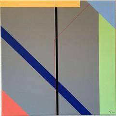 KONSTRUKTION BLAU 2018 (HolgerArt) Tags: konstruktivismus gemälde kunst art acryl painting malerei farben abstrakt modern grafisch konstruktiv