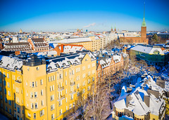 Eira (miemo) Tags: dji eira europe finland mavic2 mavic2pro aerial architecture building church churchtower city drone exterior helsinki snow tower winter uusimaa fi