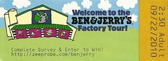 "Eintrittskarte Ben & Jerry Factory Tour • <a style=""font-size:0.8em;"" href=""http://www.flickr.com/photos/79906204@N00/46130648801/"" target=""_blank"">View on Flickr</a>"