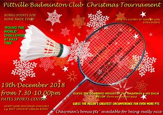 Senior Club Christmas Tournament 2018
