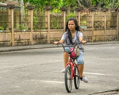 Cycling (Beegee49) Tags: street cycling girl filipina happy planet bicycle sony a6000 relaxed silay city philippines asia