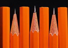 Alternating Ends (Caroline.32) Tags: macro macromondays vowel pencils ends alternating nikond3200 50mm18 extensiontubes extensiontube12mm number2