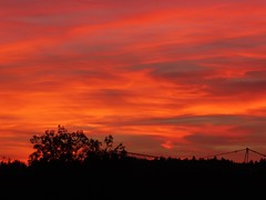 P1130455 Sunset / Sonnenuntergang (Traud) Tags: deutschland bavaria bayern sky himmel clouds wolken sunset sonenuntergang germany