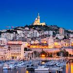 _DSC0974 - Notre-Dame de la Garde and Vieux-Port de Marseille blue hour thumbnail
