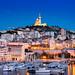 _DSC0974 - Notre-Dame de la Garde and Vieux-Port de Marseille blue hour