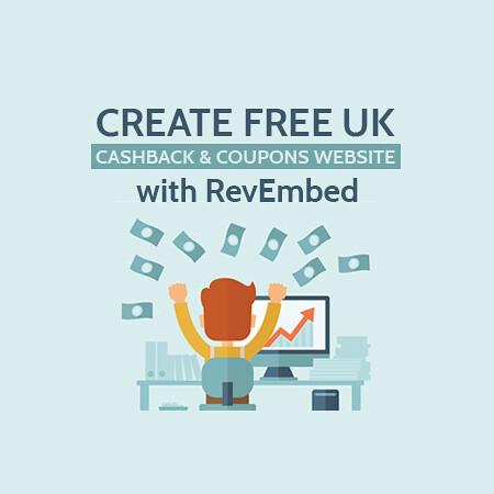 cashback revglue revembed site development website free