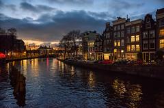 Amsterdam (Julysha) Tags: winter amsterdam evening december lights river canal 2014 acr d810 nikkor247028 dusk thenetherlands city architecture