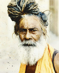 The priest (zilvadesigns) Tags: watercolor portrait drawn painting caricature pastel real technique natural artistic old indian sketch culture cultural value sadhu hindu varanasi traditional tradition classic classical asian drawing hand detailed detail yellow people beard long hair masking fluid grain texture textures man realistic devoted face expression ceylon sketchbook