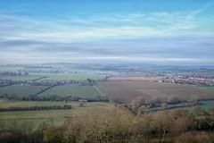 A Frosty January Morning. (margaretgeatches) Tags: blue clouds mist haze blackcurrantplants ploughedland trees fields hamhill southsomerset winter