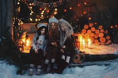 cabin in the woods IX (AzureFantoccini) Tags: bjd abjd doll dollhouse miniature balljointeddoll cabin woods forest winter nature newyear snow diorama girls supia jiin granado ozin5 emon zaoll luv dollmore holidays cozy stilllife