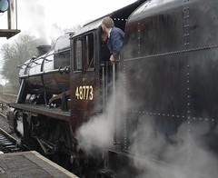 Steam from 2009 - 8F 48773 - departing Bridgnorth - Severn Valley (markhlewis170262) Tags: locomotive train steam bewdley severnvalleyrailway 8f 48773