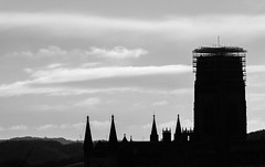 Durham. . . (CWhatPhotos) Tags: cwhatphotos penf views county durham north east england street clouds cloudy sky olympus digital camera photographs photograph pics pictures pic picture image images foto fotos photography artistic that have which with contain artistc scaffold scaffolding cathedral silhouette silhouetted silhouettes tower spire cloud spires flickr