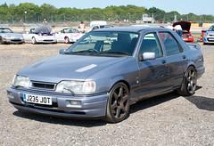 1991 Ford Sierra Sapphire Cosworth (J235 JOT) 2000cc - TRAX 2018 - Donington Park (anorakin) Tags: 1991 ford sierra sapphire cosworth j235jot 2000cc trax 2018 doningtonpark