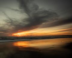 Sunrise (PeskyMesky) Tags: aberdeen aberdeenbeach sunrise sunset water scotland sea sky sand beach red ocean canon canon5d eos