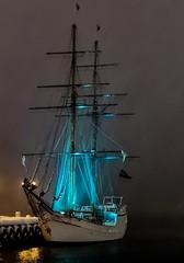 Oslo Harbour (langdon10) Tags: norway oslo tallship water nighttime ship snow winter