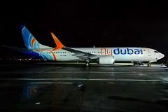 FlyDubai MAX (A6-FNB) (Fraser Murdoch) Tags: flydubai delivery new fz fdb dubai fly boeing 737 max 9 7m9 b39m b737 b739 739 max9 a6fnb a6 fnb nb na nc a6fna a6fnc glasgow international airport egpf gla huawei p8 lite 2017 winter 2018 ferry flight gso kgso pti atlantic united arab emirates uae fraser murdoch aviation aircraft airline plane aeroplane stand 81 82 tower night wind rain menzies