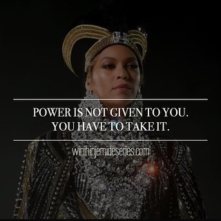 B E Y O N C E • K N O W E L E S Power and positions of power are not for the docile. For us to see a rise in the number of women and youth leaders, we must rise to the occasion and use our voices. 👑 • • • • • #watchthisspace #wjs #women #youth #equa