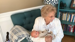"Grandma Shirley Holds Sam • <a style=""font-size:0.8em;"" href=""http://www.flickr.com/photos/109120354@N07/31496398937/"" target=""_blank"">View on Flickr</a>"