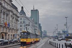 1414 + 1413 - 7 - 21.12.2018 (VictorSZi) Tags: poland warsaw varsovia transport tram tramvai publictransport winter iarna december decembrie nikon nikond5300