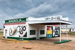 Tucumcari 2 (fyrcdf) Tags: 66 motherroad newmexico tucumcari mural route66 scorpion nm storm clouds magnolia gas