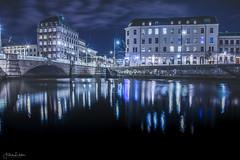 Night Lights (Fredrik Lindedal) Tags: night nightshot nightlights gothenburg göteborg water bridge lights sverige sweden clouds fredriklindedal nikon d750 city cityscape cityview