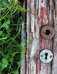 IMG_0246 (www.ilkkajukarainen.fi) Tags: autiotalo abandoned house ovi karmi door lock lukko pesä suomi finland finlande eu scandinavia puu wood neli apila grass ruoho espoo visit travel travelling happy life