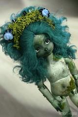 Moss (Amberkyou) Tags: willow cherishdoll chubby moss bjd abjd balljointeddoll green modded asian headband handmade fimo