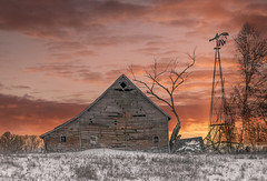 Busy Years Rushed By (henryhintermeister) Tags: barns minnesota wibarns oldbarns clouds farming countryliving country sunsets storms sunrises pastures nostalgia skies outdoors seasons field hay silos dairybarns building architecture outdoor winter serene grass landscape plant cloudsstormssunsetssunrises mapleridgedmn