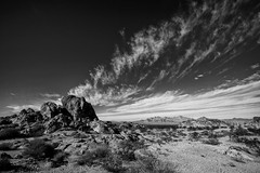 Desert Sky (East of 29) Tags: sliderssunday joshuatreenationalpark bw monochrome sky clouds desert sheepholemountains