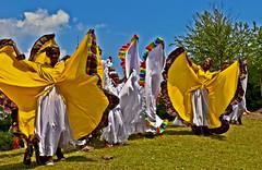 Caribana, Toronto, Ontario, Canada (klauslang99) Tags: klauslang dancing caribana toronto people costumes clothes swinging