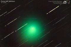 Comet 46P/ Wirtanen (Sky Watchers Association of North Bengal - SWAN - ) Tags: wirtanen 46p comet sky star trail tezpur university observatory swan night rare celestron nikon 14 inch d610 tu astrometrydotnet:id=nova3113409 astrometrydotnet:status=solved