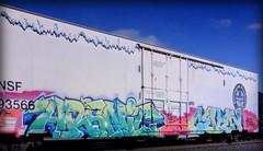 (timetomakethepasta) Tags: arsnic ceven freight train graffiti art bnsf reefer e2e