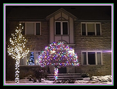 Christmas Is In The Air (bigbrowneyez) Tags: lights decorations festive house snow christmasisintheair night holidays fabulous christmas fun fancy winter ottawa canada fantastic striking beautiful neibourhood tree rich colourful bello bellissimo casa luce festivefeellng mood