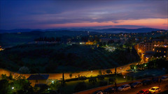 Night view (kate willmer) Tags: night sunset town wall buildings architecture garden siena tuscany italy