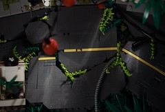 The Urban Jungle (Tokyo, Japan) ([E]ddy) Tags: lego apocalypse tokyo road minifigure toy car plants urban jungle postapocalyptic legoscene scene moc afol tfol legoapoc apocalypticlego