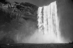 Skogafoss (cliffwilliams449) Tags: water waterfall skogafoss iceland southerniceland mono blackandwhite power drama longexposure