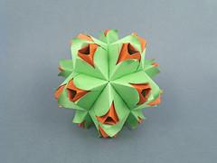 Ириша, С Днем Рождения!!! (masha_losk) Tags: kusudama кусудама origamiwork origamiart foliage origami paper paperfolding modularorigami unitorigami модульноеоригами оригами бумага folded symmetry design handmade art
