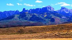 Cimarron Mountains & Courthouse Mountain, San Juan Mountains, at Ridgway, Colorado (Black Diamond Images) Tags: ridgway ouraycounty colorado co mountain mountains sky cimmaronridge uncompahgrenationalforest usforestservice landscape landscapes owlcreekpass cimmaronrange rockymountains cimmarronridgesouth cimmaronmountainsnorth cimmarronridgenorth courthousemountain cimarronmountains sanjuanmountains turretridge chimneyrock precipicepeak redcliff coxcomb highway550 hwy550 usa cloud eldredge silverjackreservoir dallas countryroad10 westernusatrip2018 2018 canond60 sigma1770 1770 panorama field grass forest tree
